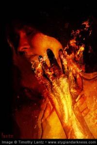 """""""Fleshfire"""" by Timothy Lantz, www.stygiandarkness.com"""