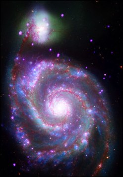 Spiral Gallery M51, 30 million lightyears from Earth, NASA photo