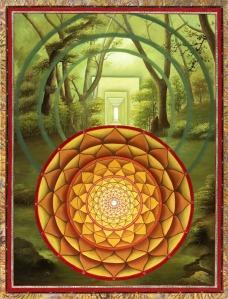 """Open Door To The Heart"" Mandala by Paul Heussenstamm"