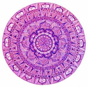 """Pink Lotus"" meditation mandala by Jannah Brown"
