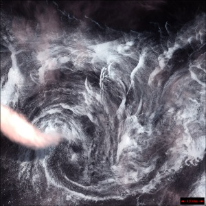 Whirlpool In Air, Landsat 7 Satellite Photo