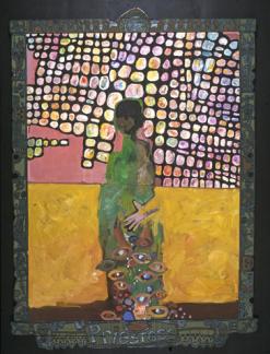 Priestess, by Steve Banks, mixed media