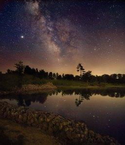 The Milky Way Over Ontario, Kerry-Ann Lecky Hepburn