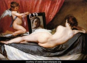 """A Venus at Her Mirror"" by Diego Velazquez"