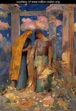 Mystical Conversation, by Odilon Redon