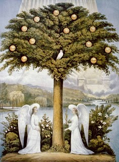 image of angels and Tree of Life, Currier & Ives