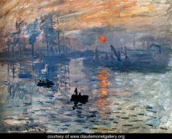 """Monet, """"Impression: sunrise"""""""
