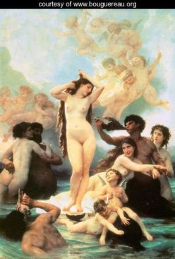 """The Birth of Venus,"" 1879, William-Adolphe Bouguereau"