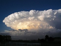 A supercell, by Greg Lundeen/Creative Commons. While many ordinary thunderstorms are similar in appearance, supercells are distinguishable by their large-scale rotation.