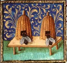 Medieval Bees, France, courtesy of vintageprintable.com