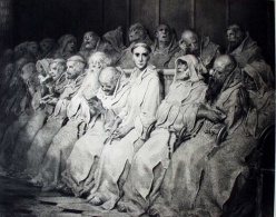 """The Neophyte,"" etching by Gustave Dore, 1877"