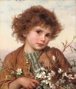"""Spring Blossom"" by Sophie Gengembre Anderson, public domain"