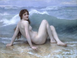 The Wave, by William Adolphe Bouguereau, oil on canvas, 1896