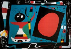 """Woman in the Mirror, Joan (Juan) Miro,"