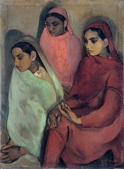 Three Girls, by Amrita Sher-Gil, 1935