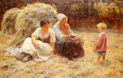 """""""Midday Rest"""" by Frederick Morgan, 1879"""