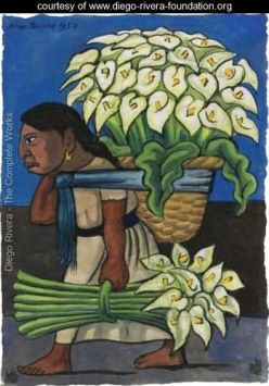 Woman with Calla Lilies on her Back, by Diego Rivera