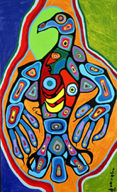Thunderbird with Inner Spirit, Norval Morrisseau, c. 1978, McMichael Canadian Art Collection