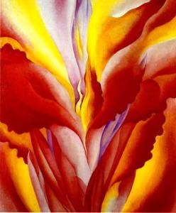 """""""Red Canna"""" 1923 by Georgia O'Keeffe"""