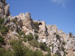 St. Hilarion Castle in the Besparmak Mountains of north Cyprus, built by the Byzantines in the 11th century.