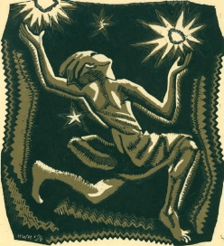 Prairie Child aka Star Child, 1926, woodcut, Helen West Heller (1872-1955)