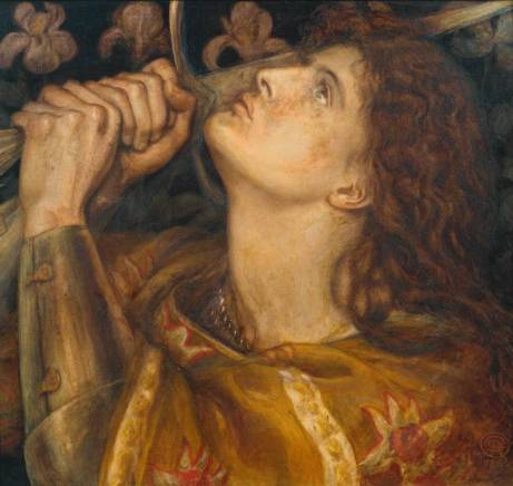 Joan of Arc 1864 by Dante Gabriel Rossetti (1828-1882)