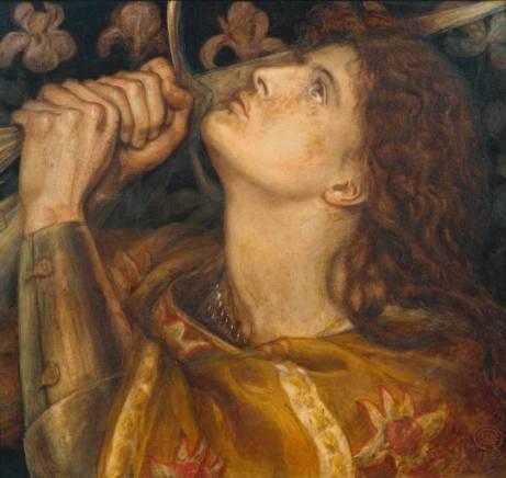 Joan of Arc 1864 by Dante Gabriel Rossetti (1828-1882)