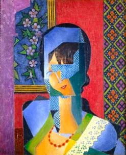 """""""Femme a la Dentelle (Lace)"""", by Jean Metzinger, 1916"""