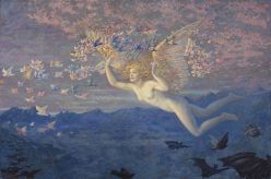 """Wings of the Morning"" by Edward Robert Hughes (1851-1914)"