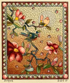 """""""Screen"""" design from 1886 catalogue of Belcher Mosaic Glass Co. of New York. Thanks to publicdomainreview.org"""